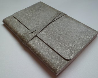 Leather Sketchbook Leather Journal  Shagreen/Stingray Design Embossed onto the Leather.