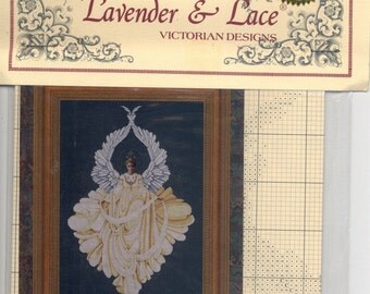Lavender & Lace: Angel of Peace (OOP) - Cross Stitch Kit