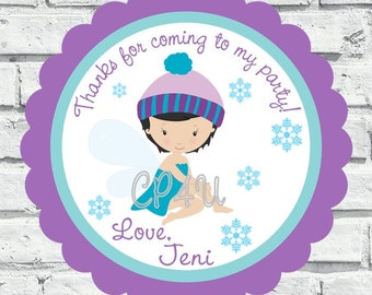 Winter Fairy and Ice Castle Tags