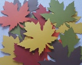 30 Fall Maple Leaves Die Cuts 4 inches