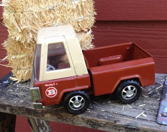Rare 1960's Vintage Buddy L Pick Up Truck Steel Toy with Functioning Tailgate Wedding Ring Bearer Country Farm Wedding