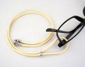 Eyeglass Lanyard, Leather Eyeglass Cord, Eyeglass Necklace, Eyeglass Chain, 28-36 inchs, Holder for your Glasses