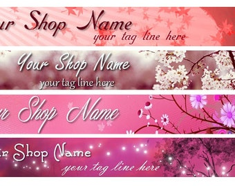 Large Etsy Facebook Cover Photo Ready Made Premade Pink Rose Floral Flower Nature Fall Autumn  Banner