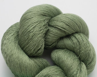 Malachite Silk Cotton Recycled Fine Lace Weight Yarn, 2252 Yards Available