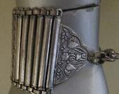 Vintage Wide Silver Bracelet / Ethnic Wrap Cuff Bracelet/ Tribal Jewelry