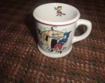vintage shenango china childs nursery rhyme cup mug peter pumpkin eater