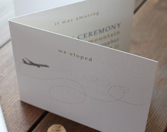 We Eloped Announcement Card Elope Elopement Invitation Invite Mail Announce