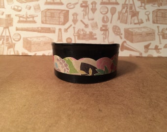 Up-cycled Vinyl Record Bracelet