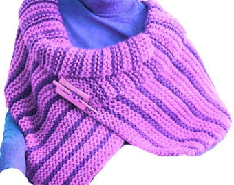 Shoulder Wrap Cape  Shawl PDF Pattern Easy Knitting PDF Pattern Is not a finished product. It is a PDF Pattern with instructions