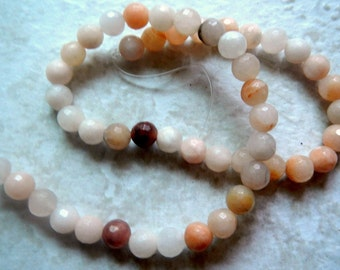 Aventurine Quartz Gemstone Faceted Round Beads-Natural-8mm