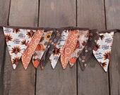 Thanksgiving Fall Harvest Fabric Pennant Flag Banner