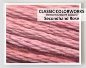 SECONDHAND ROSE : Classic Colorworks 6- strand embroidery floss hand over dyed overdyed thread formerly Crescent Colours cross stitch