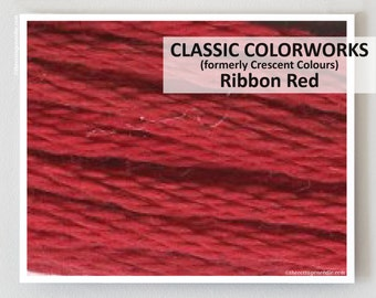 RIBBON RED  : Classic Colorworks hand-dyed embroidery floss cross stitch thread at thecottageneedle.com
