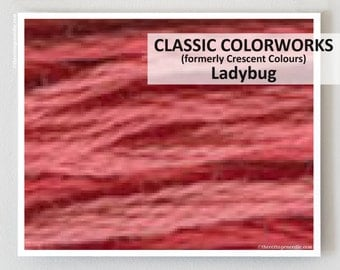 LADYBUG Classic Colorworks hand-dyed embroidery floss cross stitch thread at thecottageneedle.com