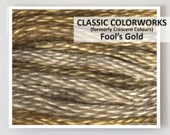 FOOL'S GOLD  : Classic Colorworks hand-dyed embroidery floss cross stitch thread at thecottageneedle.com