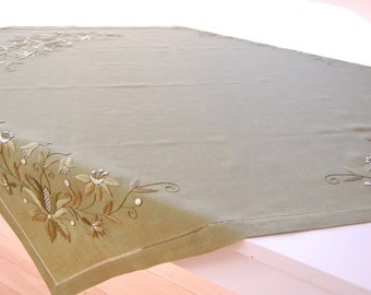 hand made linen tablecloth