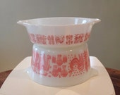 RESERVED for AMBER Pyrex Pink Butterprint Amish Set #471 #473 Casserole Dishes Rooster Promotional Set