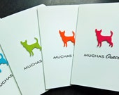 Chihuahua Thank You Cards Set of 4, Muchas Gracias Cards, Dog Lover Gift, Cards in Spanish, Dog Cards