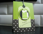 Reserved Listing for Suzanne, St. Patricks Day Cards and Cupcake Toppers, Handmade St. Patty's Day, Saint Patrick's Day