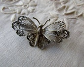 filigree butterfly 800 silver pin