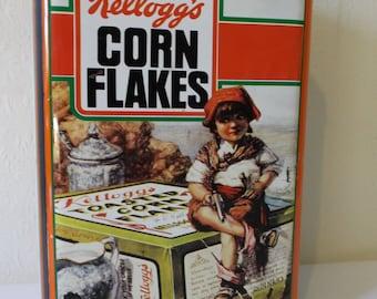 Vintage Tin Kelloggs Corn Flakes French Metal Box