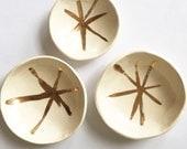 ceramic mini bowl set gold stars