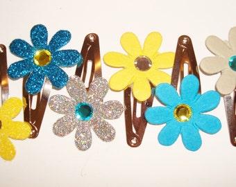 Chic Flower Hair Clip Set