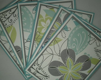 Blank Note Card Set, Floral Note Card Set, Set of 6, Stationery, Teacher Gift, Gift for Her, Thank You Cards, Blank Cards