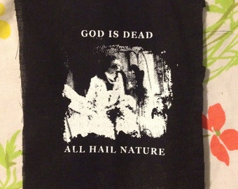 BEGOTTEN HORROR PATCH easily the most unpopular item on etsy God Is Dead All Hail Nature