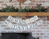 ENGAGEMENT banner SOON to Be banner, Party Decor,