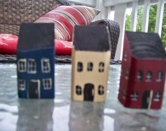 Primitive Salt Box Houses