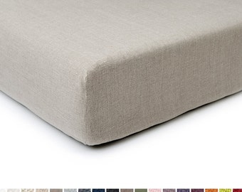 Changing pad cover Custom color soft linen nursery changing pad covers