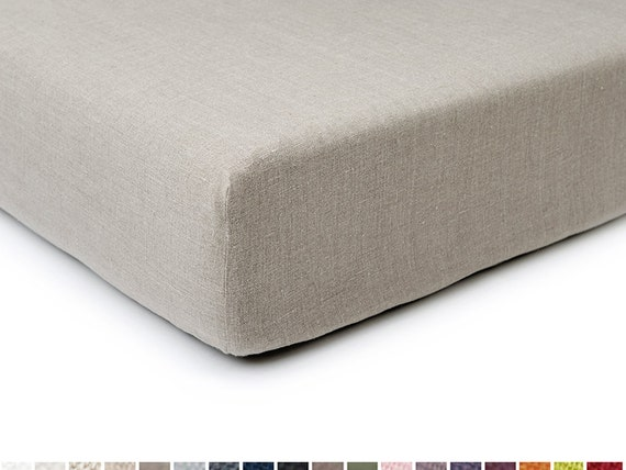 Linen fitted sheet crib size Custom color baby bedding by Lovely Home Idea