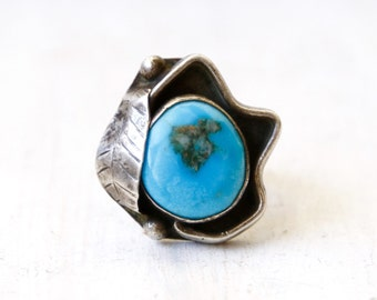 VC-44, Southwestern, Native American vintage turquoise and stearling silver ring