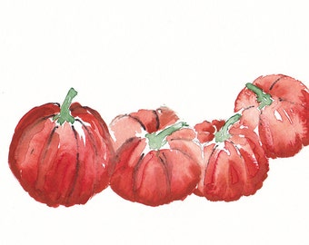 Pumpkins Watercolor