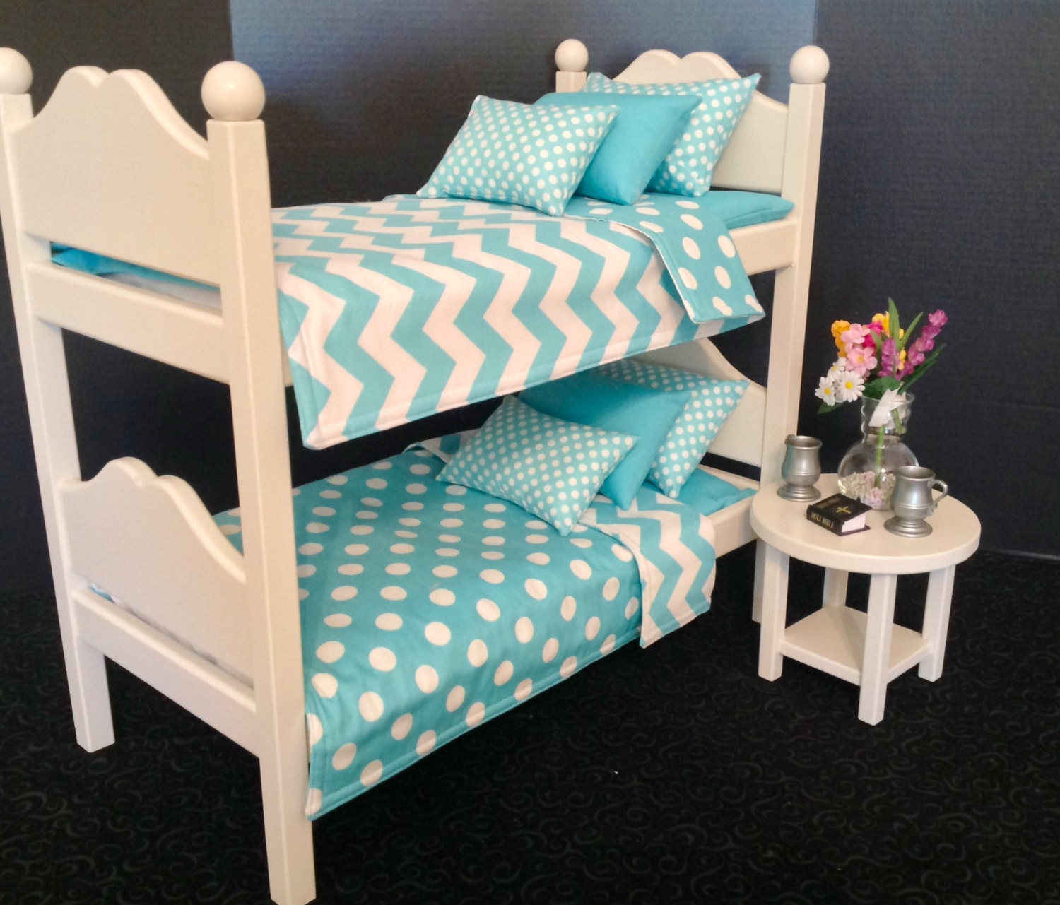 American girl boy doll furniture doll bunk bed by