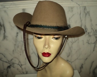 Vintage 1960s RESISTOL Cowboy Hat Roundup Collection Horsehair Band Leather & Silver