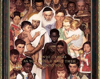 Norman Rockwell Poster Do Unto Others Framed Art Print
