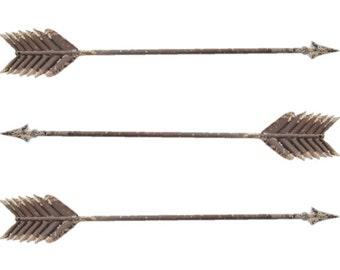 THREE Metal Arrows - Wall Decor - Love Wedding Decor - Native American - Southwestern Gallery Wall Decor - Photo Prop - Adventure ARR00