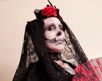 Dia de Los Muertos 3 pc. Costume M