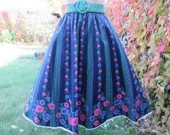 Full Skirt Vintage / Cotton / Poly / Size EUR42 / 44 / UK14 / 16