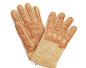 70s Unisex Levi's tan gloves - Size M
