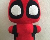 Pandapool, Deadpool Comic Superhero, stuffed animal plush toy, handsewn, ecofriendly