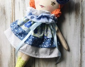 On Sale, Clearance Doll, SpunCandy Classic Doll, Heirloom Quality Doll, Modern Rag Doll, Nursery Decor, Kids Decor, Fabric Doll, Cloth Doll