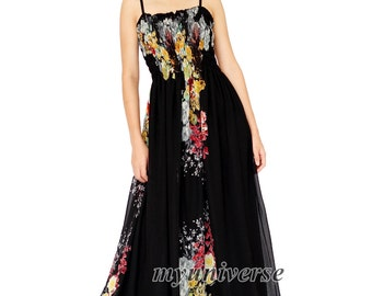 Black Dress Maxi Dress Gown Prom Summer Plus Size Floral Evening Dress