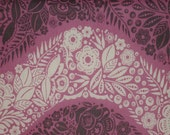 """Fabric 1 Yard  LITTLE FOLKS VOILE Village Path Lilac 54/55"""" Wide  Anna Maria Horner Floral Waves Quilting Sewing"""