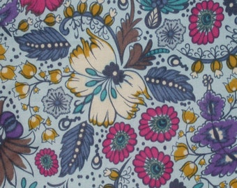 "Fabric 1 Yard  LITTLE FOLKS VOILE Coloring Garden Dusk 54/55"" Wide  Anna Maria Horner Floral Waves Quilting Sewing"