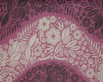 "Fabric 1 Yard  LITTLE FOLKS VOILE Village Path Lilac 54/55"" Wide  Anna Maria Horner Floral Waves Quilting Sewing"