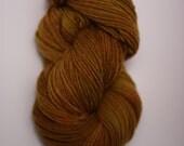 Yarn Worsted Single Ply sp Hand dyed Merino Wsp12003 Caramel