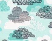 First Light Passing Clouds in Blue, Eloise Renouf, 100% GOTS-Certified Organic Cotton, Cloud9 Fabrics, 133702